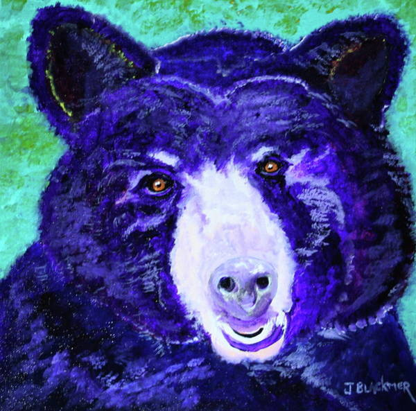 Poster featuring the painting Purple Passion Bear by Jean Blackmer