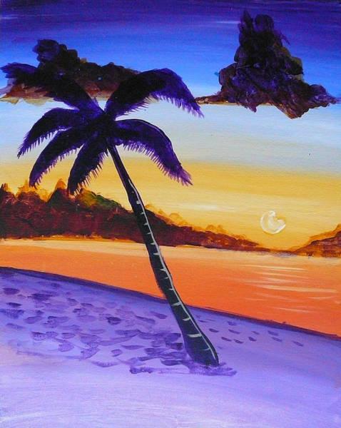 Purple Sand Palm Tree Poster