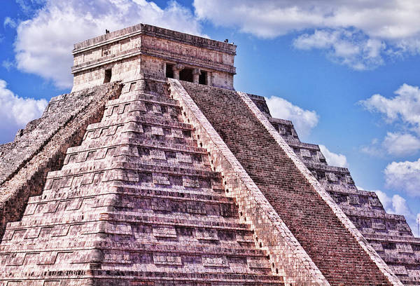 Pyramid Of Kukulcan At Chichen Itza Poster