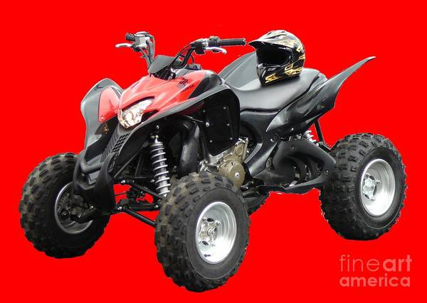 Quad Bike And Helmet Poster