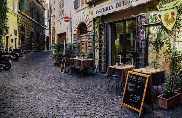 Quaint Cobblestones Streets In Rome, Italy Poster