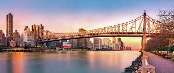 Poster featuring the photograph Queensboro Bridge At Sunset by Mihai Andritoiu
