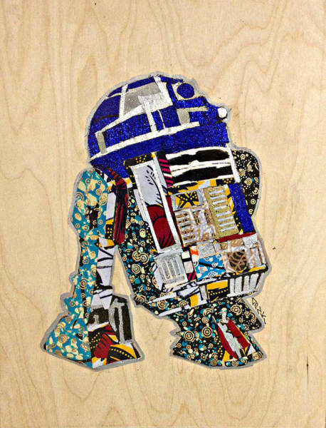 R2-d2 Star Wars Afrofuturist Collection Poster