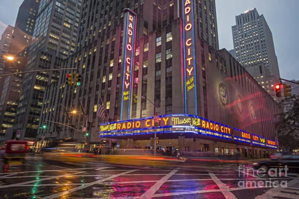 Poster featuring the photograph Radio City New York  by Juergen Held