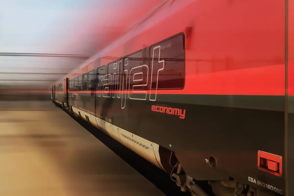 Railjet High Speed Train Poster