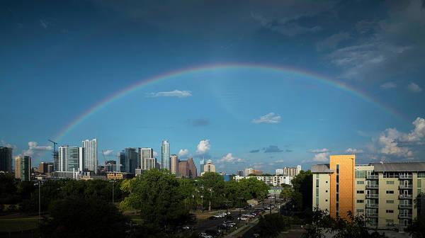 Rainbow Over Austin Poster