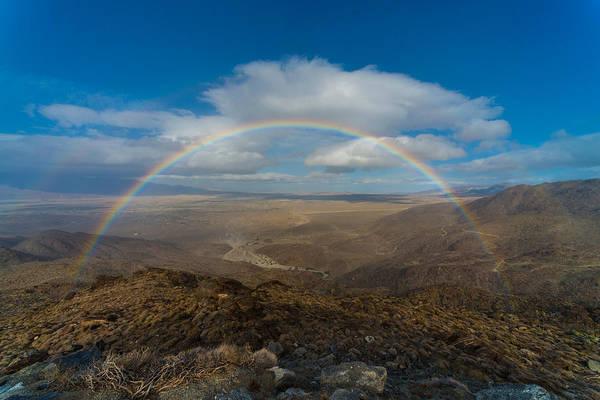 Rainbow Over Borrego Springs Poster