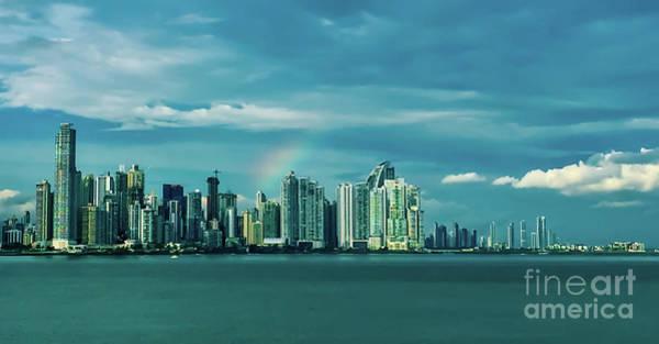 Rainbow Over Panama City Poster