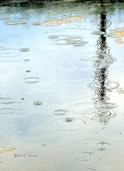 Raindrop Abstract Poster
