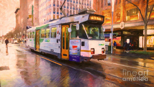 Rainy Day Melbourne Poster