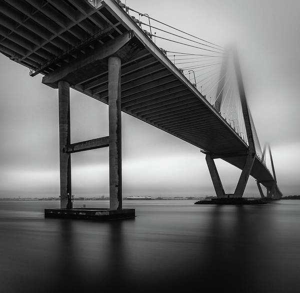 Ravenel Bridge November Fog Poster