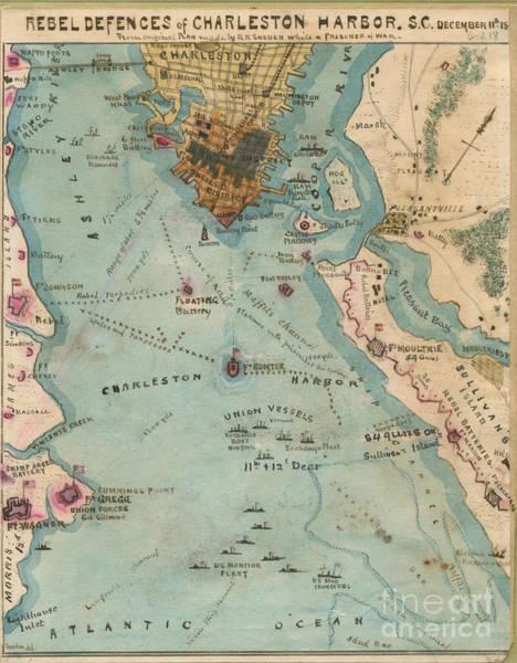 Rebel Defenses Of Charleston Harbor Poster