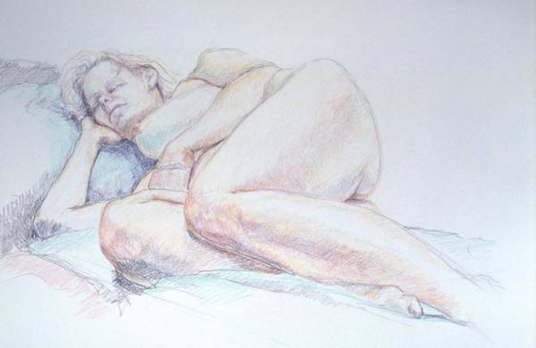 Reclining Study 2 Poster