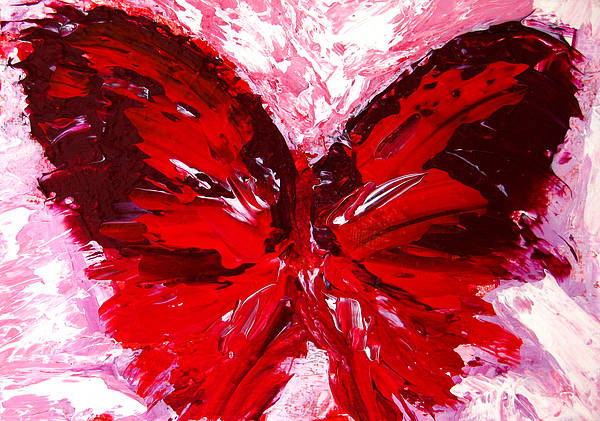 Red Butterfly Poster