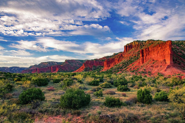 Red Cliffs Of Caprock Canyon Poster