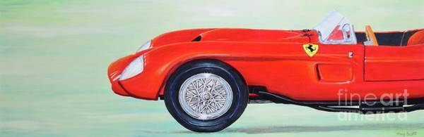 Poster featuring the painting Red Ferrari by Mary Scott