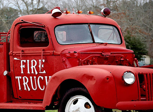 Red Fire Truck Poster