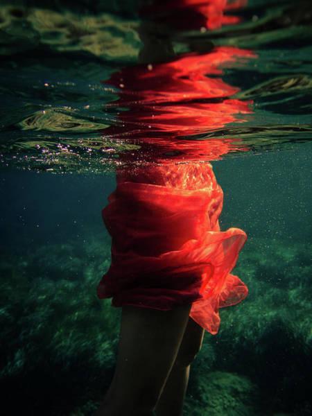 Red Mermaid Poster