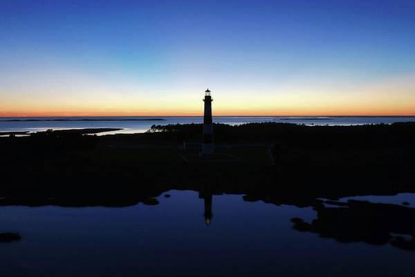 Reflection Of Bodie Light At Sunset Poster