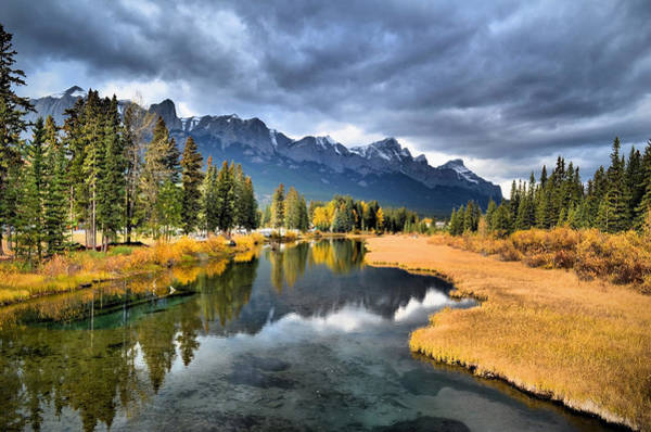 Reflections In Canmore Poster