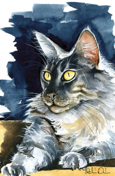 Regina - Maine Coon Painting Poster