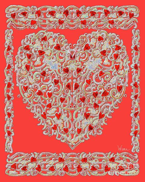 Renaissance Style Heart Poster