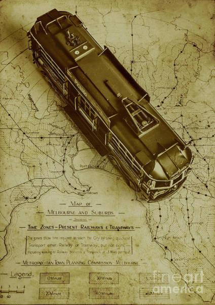 Replicating Past Tram Transit Poster