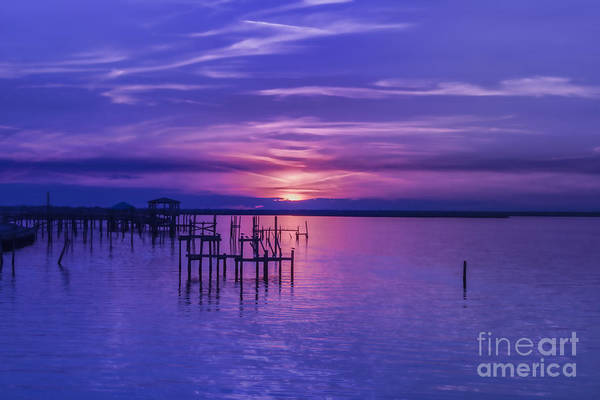 Rest Well World Purple Sunset Poster