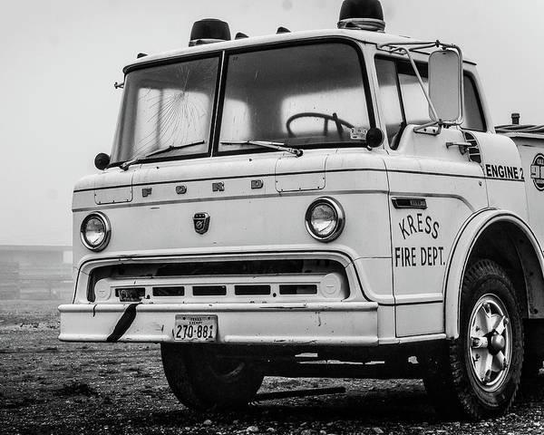 Retired Fire Truck Poster