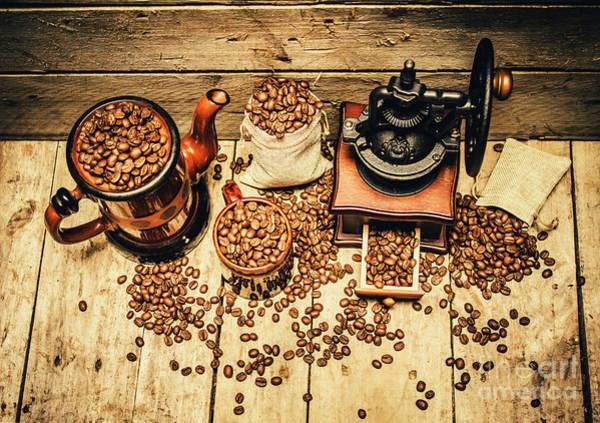 Retro Coffee Bean Mill Poster