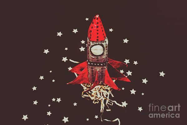 Retro Cosmic Adventure Poster