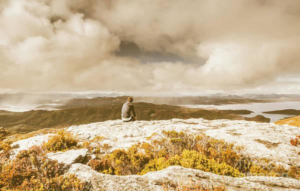 Retro Mountaintop Views Poster