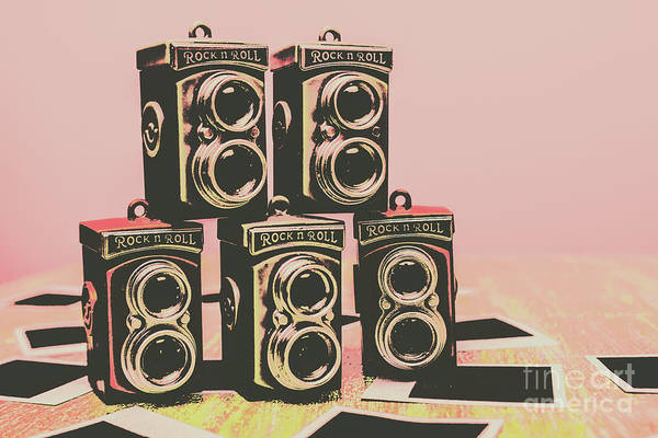 Retro Photo Camera Pop Art  Poster