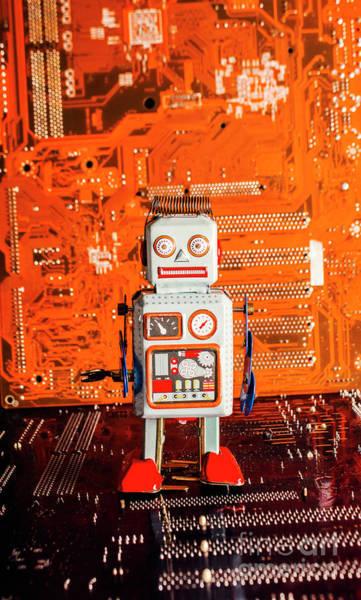 Retro Robotic Nostalgia Poster