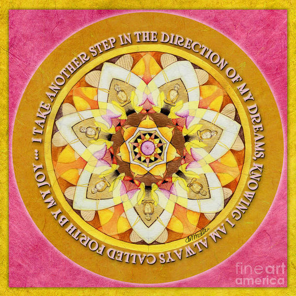 Right Path Mandala Prayer Poster