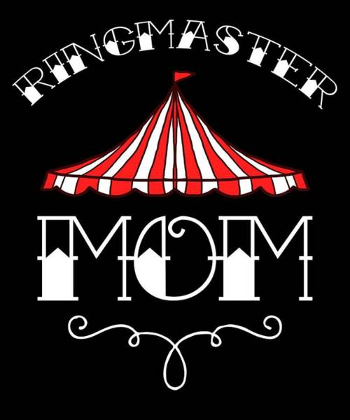 Birthday Circus Carnival Mom Party Apparel Poster