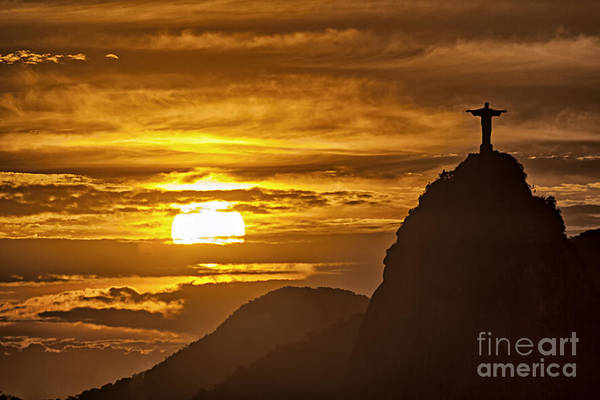 Poster featuring the photograph Rio De Janeiro Christ Statue by Juergen Held