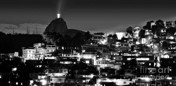 Rio De Janeiro - Christ The Redeemer On Corcovado, Mountains And Slums Poster