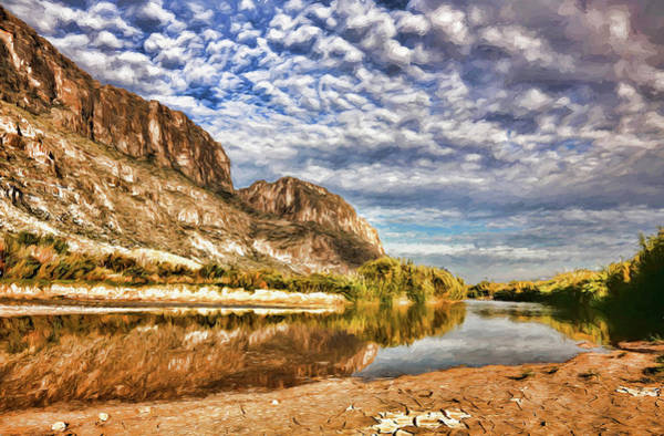 Rio Grande River Oil Painting Poster