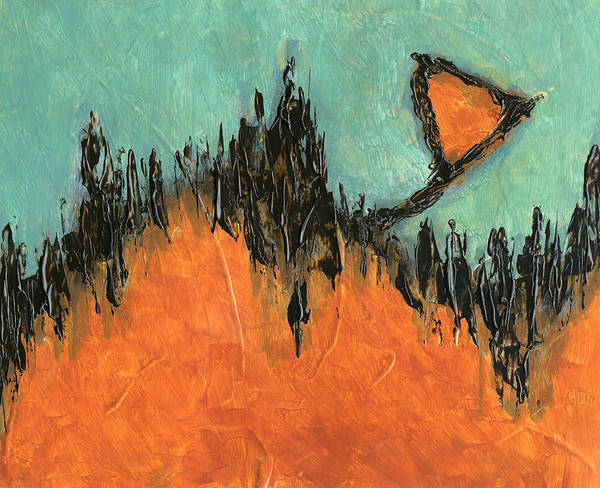 Rising Hope Abstract Art Poster