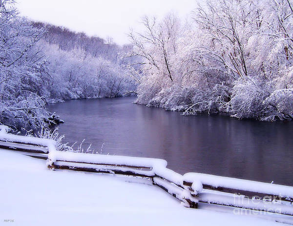 River In Winter Poster
