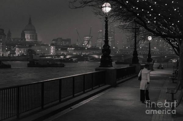 River Thames Embankment, London Poster
