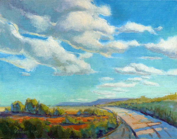 Poster featuring the painting Road Trip 2 by Konnie Kim