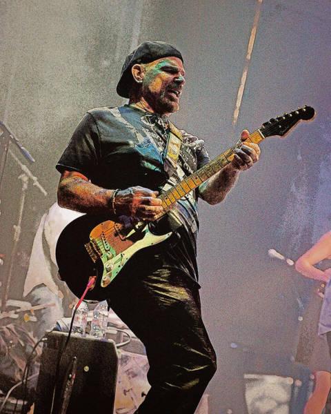 Rock Guitar Player Poster