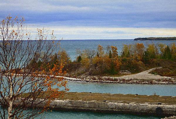 Rock Port In Alpena Michigan Poster