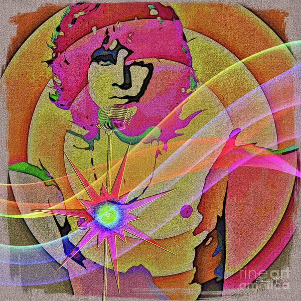 Poster featuring the digital art Rock Star by Eleni Mac Synodinos