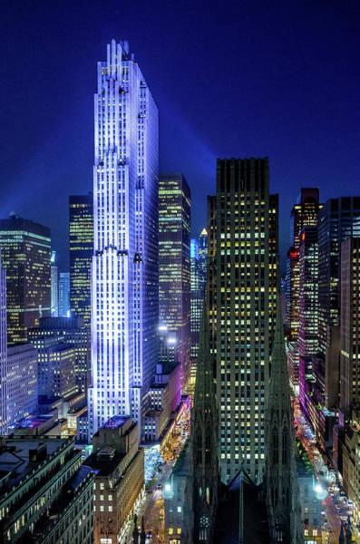 Rockefeller At Night Poster