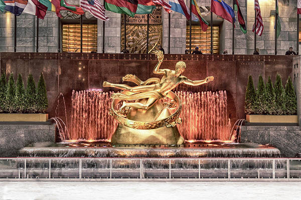 Poster featuring the photograph Rockefeller Center by Alison Frank