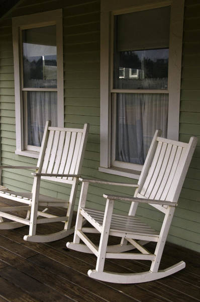 Rocking Chairs On The Porch Poster