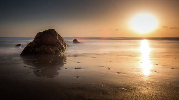 Rocks At Sunset 3 Poster
